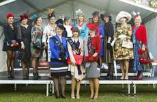 The winners and finalists for this year's Fashions competition at Ladies Day at the 2012 July Racing Carnival.