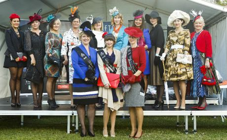 The winners and finalists for this year&#39;s Fashions competition at Ladies Day at the 2012 July Racing Carnival.