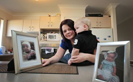 TOO SOON: Skye Bannah lost her son Joshua, who was born at Logan Hospital, to a disease called Pneumococcal Septicemia four weeks ago.