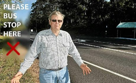 Tinbeerwah Action Group spokesman Stuart Baird checks out Cooroy Rd, heading west.