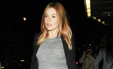 Sienna Miller in the later stages of her pregnancy.