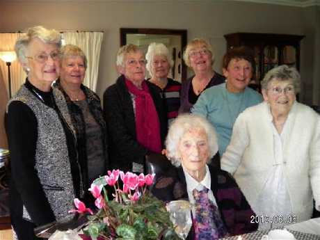 Joan Graham, seen here just a month before her death, at a morning tea held by members of the Northland branch of Registered Music Teachers to celebrate her 100th birthday.