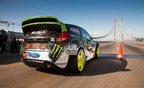 Ken Block &quot;hoons&quot; through the streets of San Francisco. 