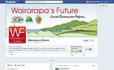 ACTIVE: A screenshot of Wairarapa's Future Facebook page.