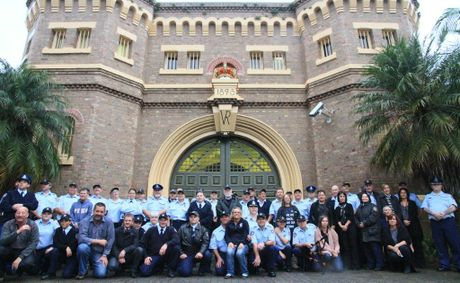 The final photo of Grafton Jail staff after the picket line disbanded on day six of the Grafton jail community picket line.