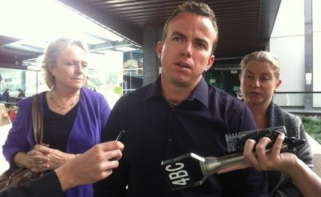 Steven Isles, son of Senior Sergeant Michael Isles who went missing in Ayr in 2009, outside the coronial inquest into his father's disappearance at the Brisbane Magistrates Court.