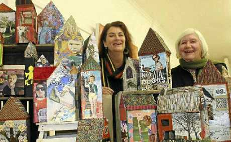 Kim Brereton and Jill Keogh have created a veritable village of houses made from recycled materials and invite the community to come and look inside.