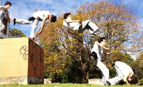 Toowoomba Parkour Crew member Dakota Perry tumbles his way across Toowoomba.