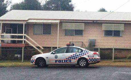 Police search the Gala Ct home of a 58-year-old man yesterday.