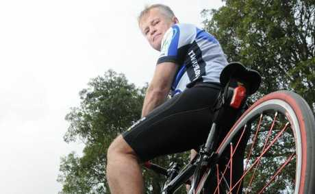 Mark Cull of team Gympie cycling group.