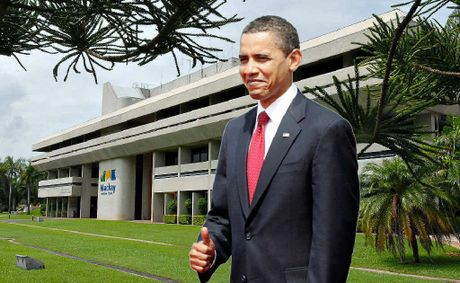 US President Barack Obama gives the 'seal of approval' for Mackay to host the international G20 Finance Meeting in 2014.