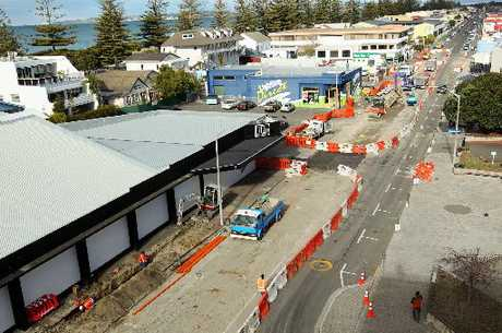 BEAUTIFICATION: Hastings St is in the middle of an upgrade.
