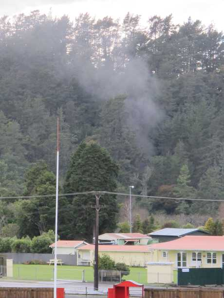 About 5am today a truck engine caught fire in the Newmont Waihi Gold's Trio underground mine.