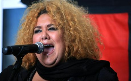 Casey Donovan performs during NAIDOC celebrations at SCU's Gold Coast campus.