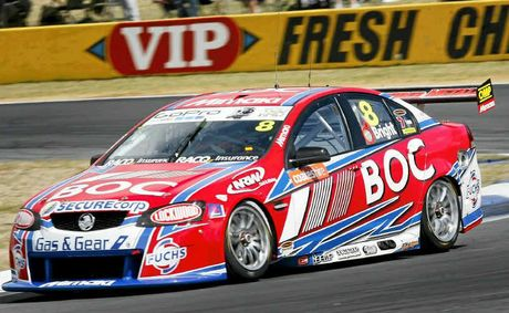 V8 FUN: Action from Saturday's qualifying round at last year's Coates Hire Ipswich 300 at Queensland Raceway. Photo: Claudia Baxter / Queensland Times