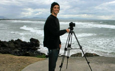 LIFE ON FILM: Dominic Sullivan with camera at the Wreck and on the Wreck in a scene from his film about being young in the Bay.