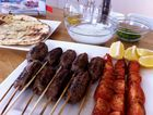Miss Foodie's traditional Greek kebabs with tzatziki.