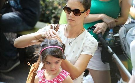 Katie Holmes and her daughter Suri