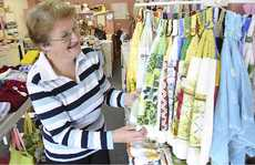 Grafton Handicraft Minimart president Cindy Marsh with items available in the shop.