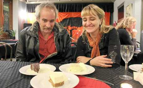 HUNGRY EYES: Andy Parks and Liina Flynn contemplate dessert at the Winsome Café Restaurant.