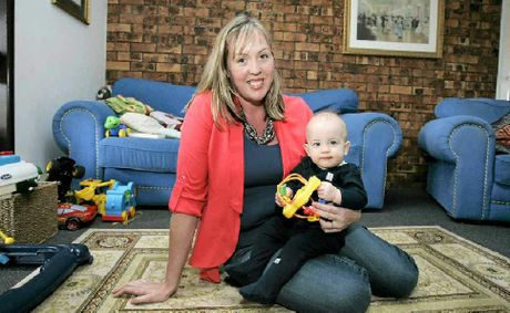 Victoria Murray, with youngest child Thomas, is starting a support group for miners wives.