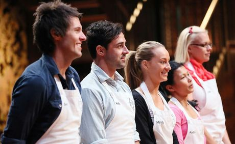 The MasterChef Top 5: Ben, Andy, Mindy, Audra and Julia.