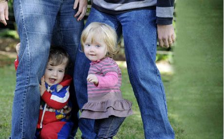 Riley Morris, 1, of Alstonville and Mia Parker of Goonellabah have the most popular names on the Northern Rivers in 2011.