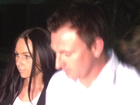 Nathan Baggaley and his fiance leaving Brisbane Supreme Court.