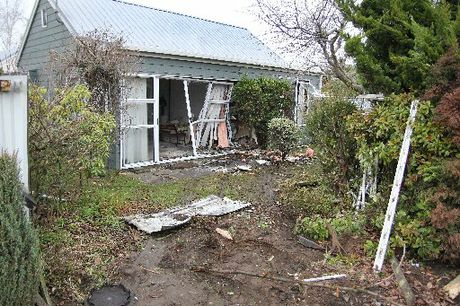 CRASH SCENE: Ryan Scott Thompson smashed into this Woodend house when three times the breath alcohol limit