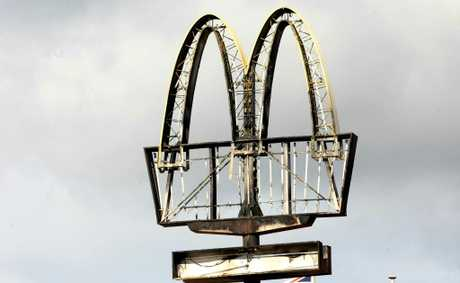 McDonald's at the Pines Shopping Centre, Elanora, now has a char-grilled sign.