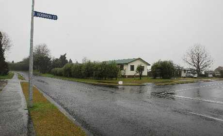 Intersection of Fairview Rd and Robinson St in Katikati where a police officer was confronted by a man with a gun. Photo / Joel Ford