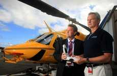 Mark Volling and Dr Allen MacKillop are thrilled about the chopper's new high-flying equipment.