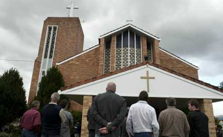 Hundreds gathered at All Saints church for Kelvin Kane&#39;s funeral.