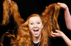 "Nicola Breward has a crazy hair moment as part of an original group performance ""In the beginning, beginning, beginning"" at the Maclean High HSC Drama Showcase."