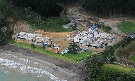 HOMELY LITTLE PLACE: New Zealand's richest man, Alexander Abramov, is building this mansion at Helena Bay.