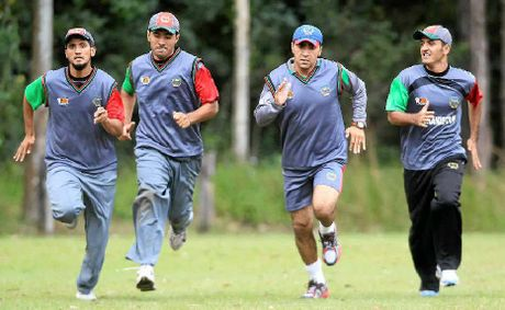 Afghanistan's under-19 cricket team, pictured training in Yandina, has the Taliban's blessing.