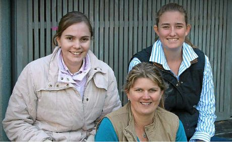 YOUNG TALENT: Queensland Beef Young Farming Champions (from left) Hayley Piggott and Kylie Stretton with Wool Young Farming Champion Lauren Crothers.