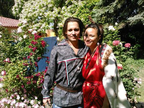 STARSTRUCK: Rotorua&#39;s Katerina Pihera met Johnny Depp while attending a Comanche adoption ceremony in New Mexico while she was taking part in an Ambassadors of Maori Opportunities tour.