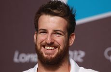 Swimmer James Magnussen of Australia smiles during a press conference ahead of the London Olympic Games. 