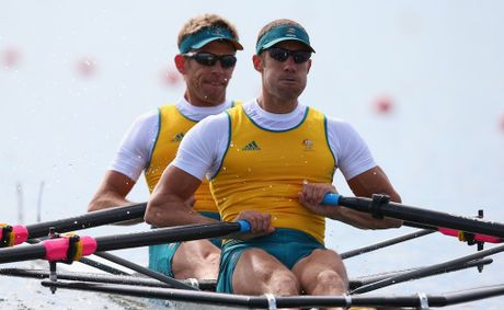 David Crawshay and Scott Brennan remain in the fight to defend their double scull gold.
