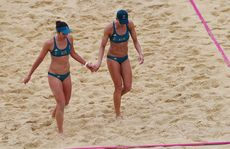 Australians Louise Bawden and Becchara Palmer lost a three set match against Germany.