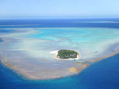 Aerial View of Heron Island. Photo Brenda Strong / The Observer