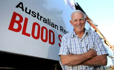 Leonard Caple starting giving blood to score time off work, but 250 donations later and he's still going.