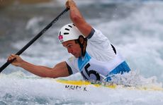 Kynan Maley has finished sixth in the C1 slalom.