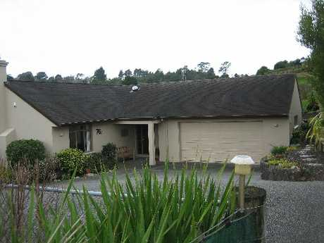 WORRY: Waihi residents Colin and Sylvia Francis' house in Savage Rd.