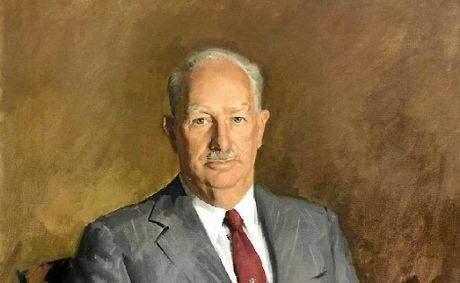 A portrait by Sir William Dargie of Rockhampton's longest serving mayor Rex Pilbeam.