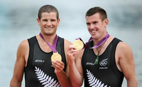 Joseph Sullivan and Nathan Cohen have won New Zealand&#39;s first gold medal of the London Olympics. 