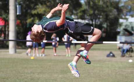 Darcy Coombs at the athletics carnival at Rockhampton High School. Photo Allan Reinikka / The Morning Bulletin