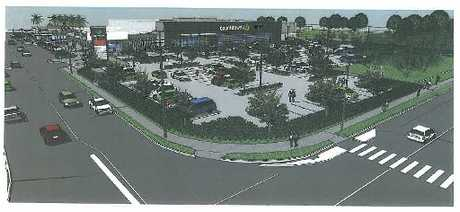Artist's impression of the new Countdown supermarket proposed for Bureta, from the intersection of Vale St and Bureta Rd. Image / Supplied