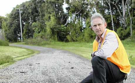 NO GO: Cr David Yarnall's plan to allow residents to fix their own dirt roads has been rejected.